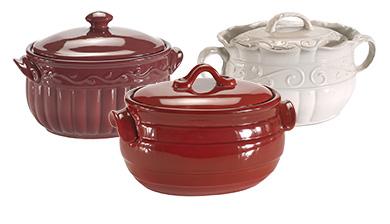 baking, serving, bakeware, stoneware, bean pot, stoneware bowl, serving bowl, mixing bowl, chip and dip, entertain, veranda, milano, sonoma, prestige, cookbook holder, serving sets