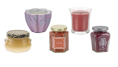candle jar 13 petite peach pear vanilla green mango cooler orange apple pie red coconut beach blue gardenia white