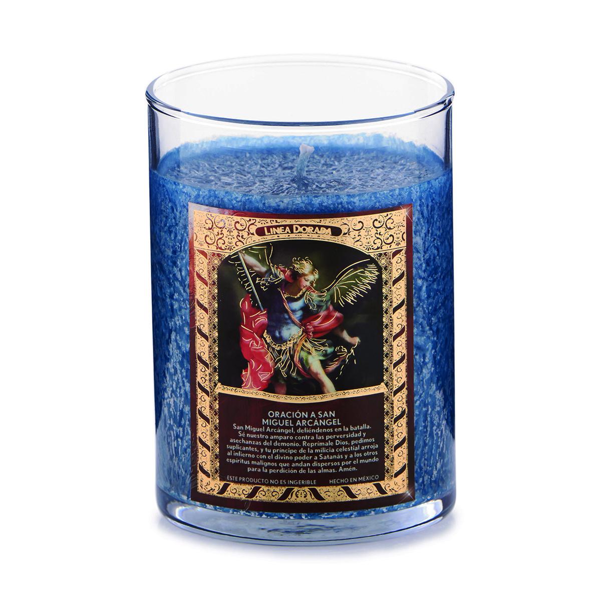 Saint Candle - San Miguel Arcangel - Angel Wings (Blue)