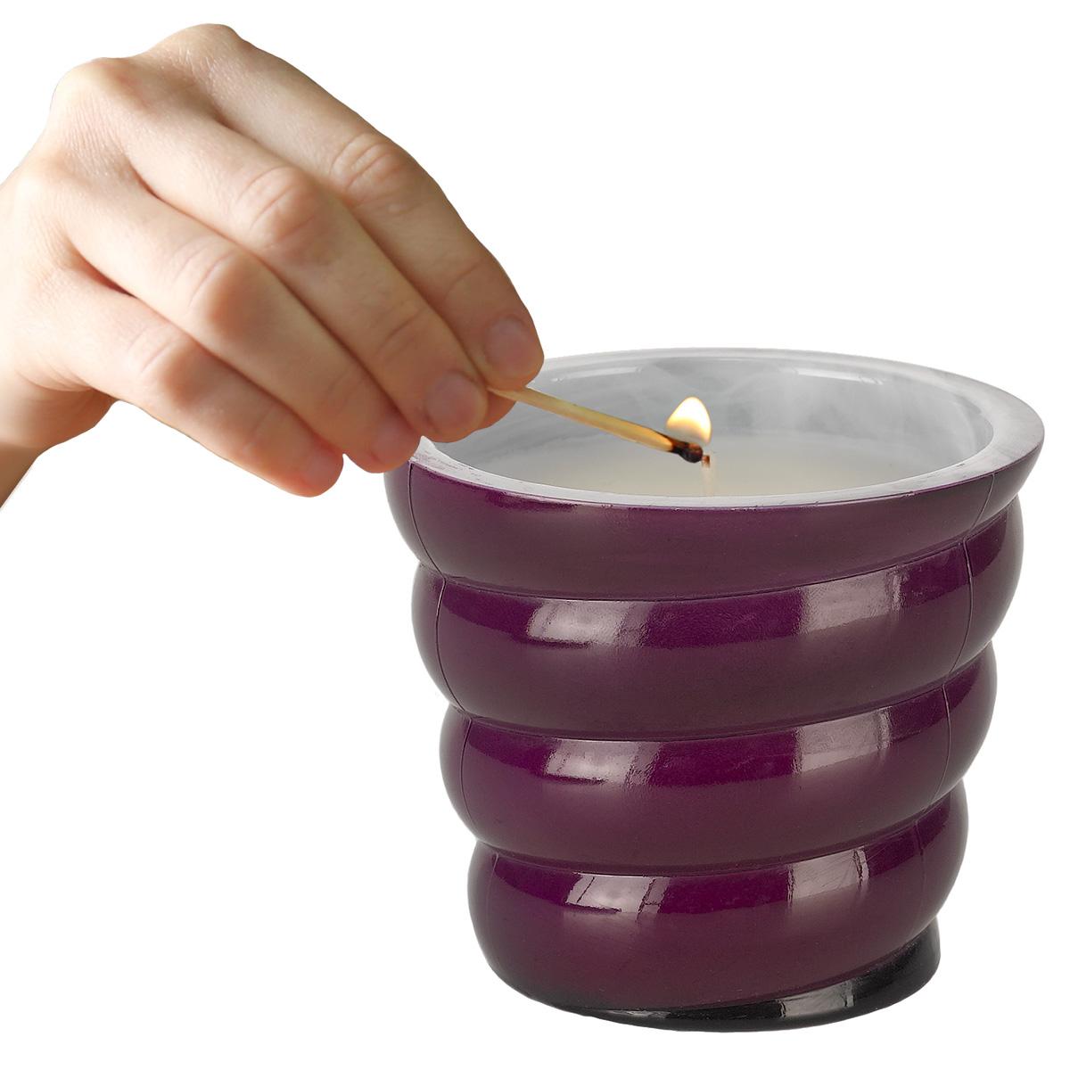 Vidrio Bello Candle - Spiral - Pomegranate--MAY SALE