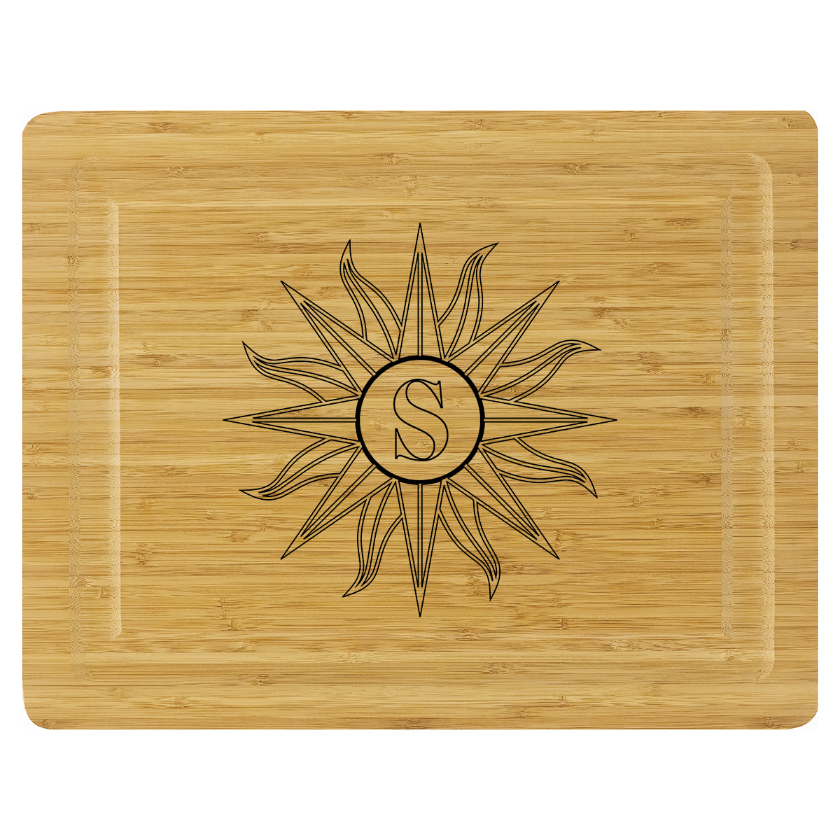 Cutting Board - Aztec Sun Initial - LIMITED LETTERS AVAILABLE