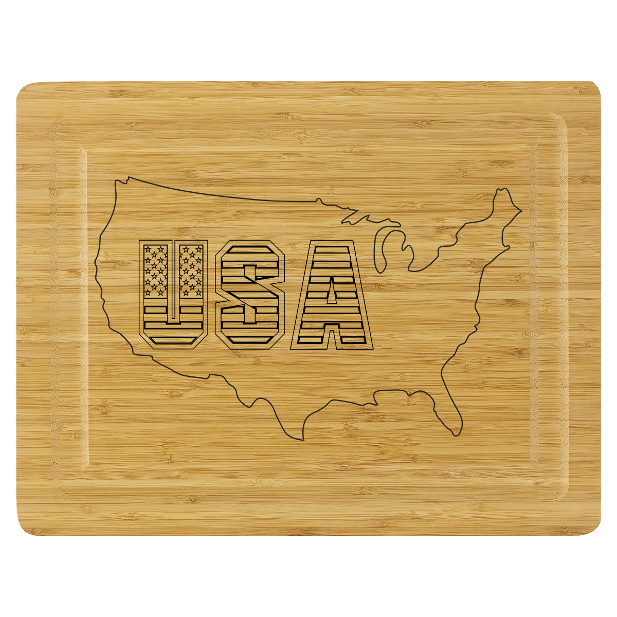 Cutting Board - USA Outline