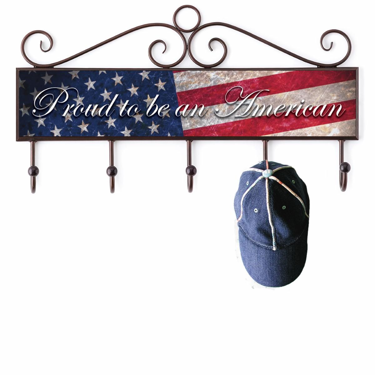 Patriotic Plaque with Hooks
