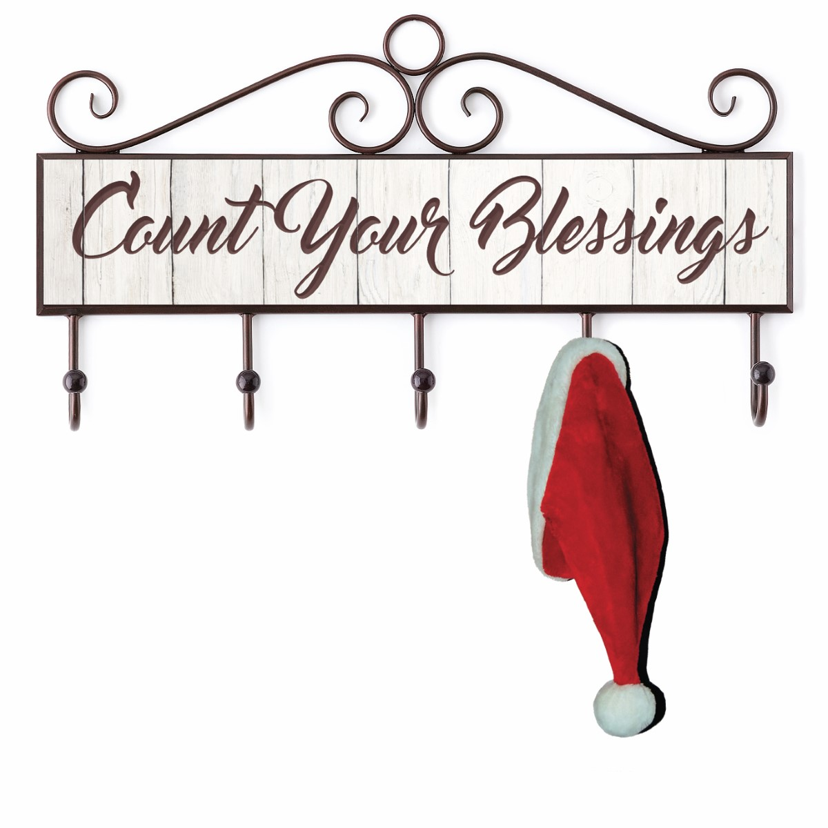 Count Your Blessings Plaque with Hooks
