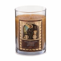 Saint Candle - San Benito - Sandalwood (Golden Yellow)