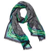 Black & Green Illusions Scarf