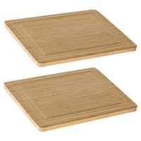 2 Bamboo Cutting Boards