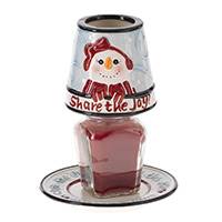 Share the Joy Candle Shade & Plate--NOW EVEN LOWER