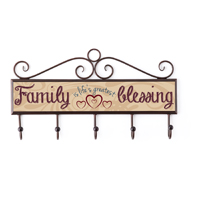 Family Blessing Plaque With Hooks