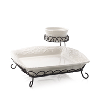 Veranda Home Two Tiered Chip & Dip - 3 Piece Set