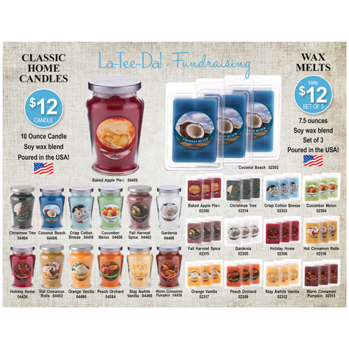 Classic Candles and Wax Melts Brochure - Fall 2017